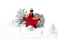 Christmas decoration red and white Stock Images