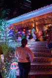 Christmas decoration in a residence of Villavicencio Stock Image