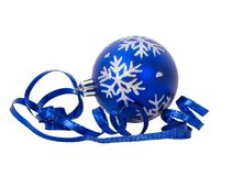 Christmas decoration with ribbon Stock Photos
