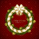 Christmas decoration with ribbon and stars Royalty Free Stock Photography