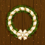 Christmas decoration with ribbon Stock Photo