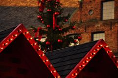 Christmas decoration. On the roof Royalty Free Stock Photography