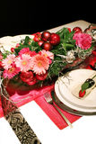 Christmas decoration with roses Royalty Free Stock Image