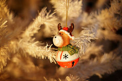 Christmas Decoration with Rudolf the Reindeer Royalty Free Stock Photography