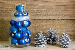 Christmas decoration. On rustic wooden background Stock Photo