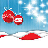 Christmas decoration sale tags Royalty Free Stock Photos