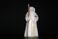 Christmas Decoration - Santa. Christmas Decoration - carved wooden white Santa Stock Photos
