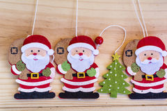 Christmas decoration with  Santa Claus- background Stock Image