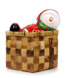 Christmas decoration Santa Claus in a box Royalty Free Stock Photo