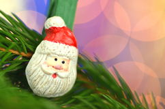 Christmas decoration, santa claus on clip Royalty Free Stock Photos