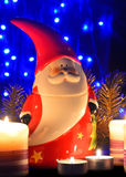 Christmas decoration with Santa Claus Figurine Stock Photo