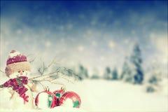 Christmas decoration with Santa Claus figurine in the snow. Christmas decoration with closeup on Santa Claus figurine in the snow Stock Photo