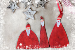 Christmas decoration Santa Stock Photography