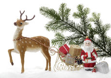 Christmas decoration, Santa Claus with sled Royalty Free Stock Photos