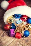 Christmas decoration in Santa's hat Stock Image