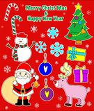 Christmas decoration with scrap style. Royalty Free Stock Photos