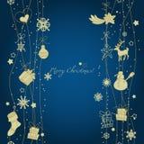 Christmas decoration seamless pattern Stock Image