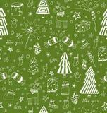 Christmas decoration seamless pattern. Stock Image