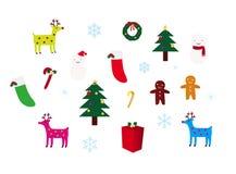 Christmas Decoration Set Royalty Free Stock Photo