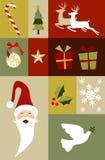 Christmas decoration set Stock Photos