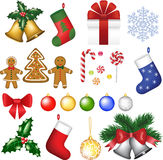 Christmas decoration set. Royalty Free Stock Photography