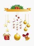 Christmas decoration set. Illustration Royalty Free Stock Photo