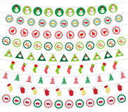 Christmas decoration set. Background christmas and happy new year Royalty Free Stock Photography