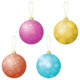 Christmas decoration, set balls Royalty Free Stock Image