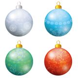 Christmas decoration, set balls Stock Images