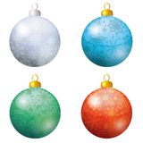 Christmas decoration, set balls Stock Photo
