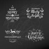 Christmas Decoration Set. Of Calligraphic and Typographic Design - with Labels, Symbols and Banners - in vector Stock Image