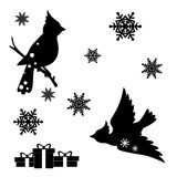 Christmas decoration set. Collection of Christmas design elements isolated on White background. Vector illustration Stock Image