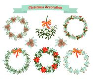 Christmas decoration .  set of elements Stock Photos