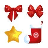 Christmas decoration set icons. Vector illustration design Royalty Free Stock Image