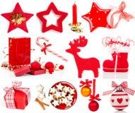 Christmas decoration set Stock Images