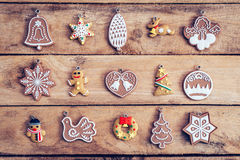 Christmas decoration set with snowflake on table wood with copy royalty free stock photography