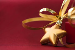 Christmas decoration in the shape of a star and gift bo Royalty Free Stock Image