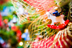 Christmas decoration with shiny glare. And with shallow DOF royalty free stock photos