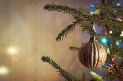 Christmas decoration with shiny glare Stock Photos