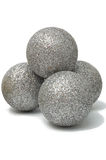 Christmas decoration, the shiny silver balls Stock Photo