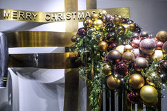 Christmas decoration in a shop. Stock Image