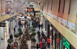 Christmas decoration at shopping center Olympia Royalty Free Stock Photography
