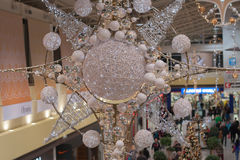 Christmas decoration at shopping center Olympia Royalty Free Stock Photos