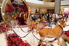 Christmas Decoration at Shopping Complex Royalty Free Stock Photos