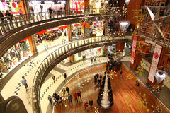 Christmas decoration in shopping mall Royalty Free Stock Photography