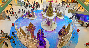 Christmas decoration at shopping mall Stock Photos