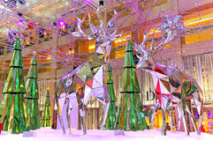 Christmas decoration at shopping mall Stock Photo