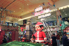 Christmas decoration in shopping mall Stock Photography