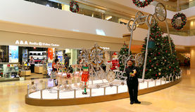 Christmas decoration in shopping mall Royalty Free Stock Photo