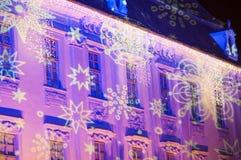 Christmas decoration in Sibiu, Romania Royalty Free Stock Photography